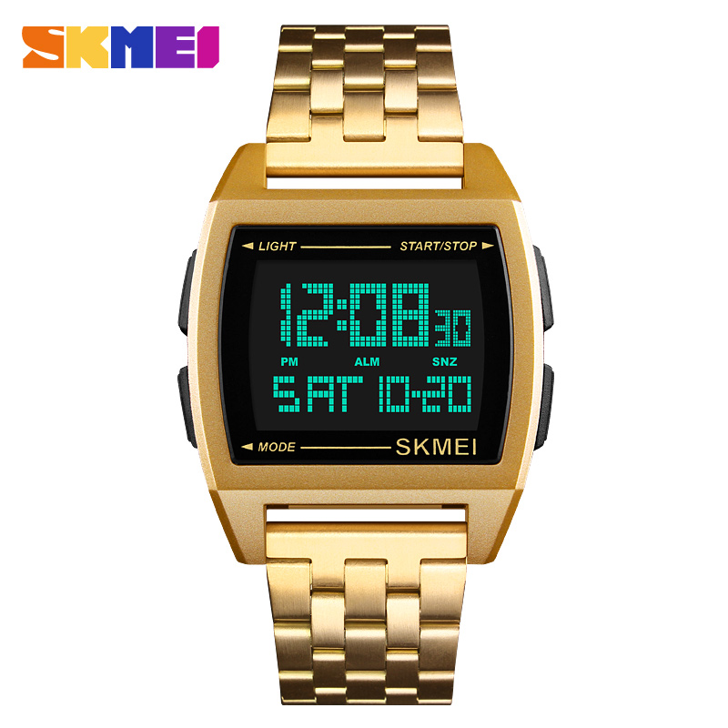Digital Stainless Steel Strap Sport Men's Watch Wristwatch For Male  1368