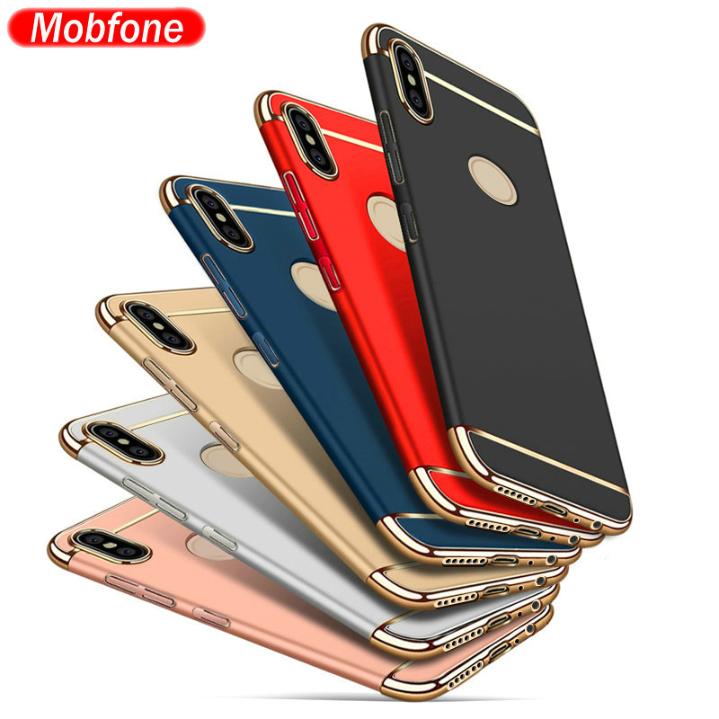 case for Redmi Note 5 (China) / Redmi Note 5 PRO plating 3 in 1 Plastic Ultra Thin Slim Matte Back Cover Phone Fundas Coque Capa