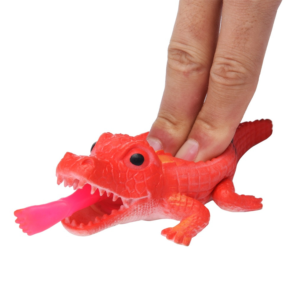 Crocodile Pops Out Leg if Squeeze 14cm Stress Relief Funny Toys 11