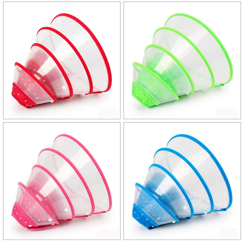 SYDZSW Pet Grooming Accessories Newly Colors Edge Dog Elizabethan Collar for Cats Chihuahua Dogs Puppy Collars Prevent Bite Lick2.1