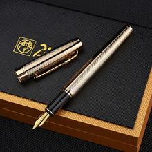 Picasso 933 Pimio Avignon Fountain Pen Classic Golden Clip Luxury Iridium Fine Nib Gift Box Optional Office Business Writing Pen 1pc lot picasso fountain pens 608 white pen silver clip pimio picasso mens gifts office school supplies stationery 13 6 1 3cm