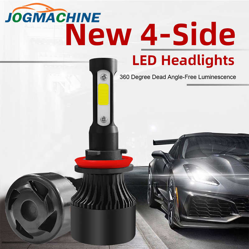 2pcs Car Headlight H4 H7 H8 H9 H11 4-Sides Car LED Headlight  9004 9005 9005 9006 H13 200W 16000LM Hi/Low Kit Bulbs Beam 6000K