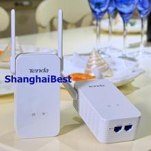 Onepair tenda ph15 1000 mbps wireless powerline adapter homeplug 300 mbps ap pw3 pa3 extender 100% neuen router us-stecker eu au