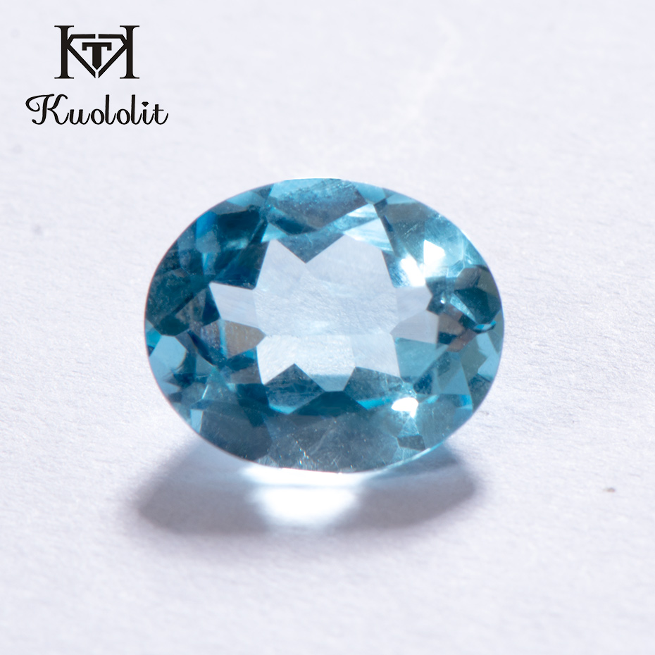 Kuololit 100% Natural Oval Cut Natural Sky Blue Topaz Loose Gemstone 5.4 ct Real Topaz Loose Stone for Gold and Silver Ring DIYKuololit 100% Natural Oval Cut Natural Sky Blue Topaz Loose Gemstone 5.4 ct Real Topaz Loose Stone for Gold and Silver Ring DIY