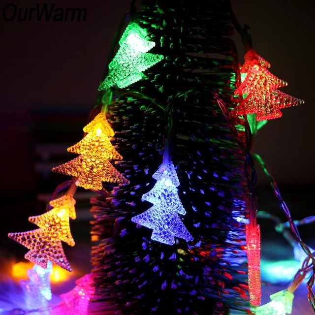 OurWarm Christmas Decoration 2M Christmas Tree LED String Light Home Garden Garland Battery Power Fairy Lamp Xmas Tree Ornaments