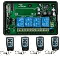 Новый AC85V ~ 250 В 4CH РФ Беспроводной Системы Дистанционного Управления/Радио Переключатель дистанционного переключателя приемник для Приборов Ворота Двери гаража