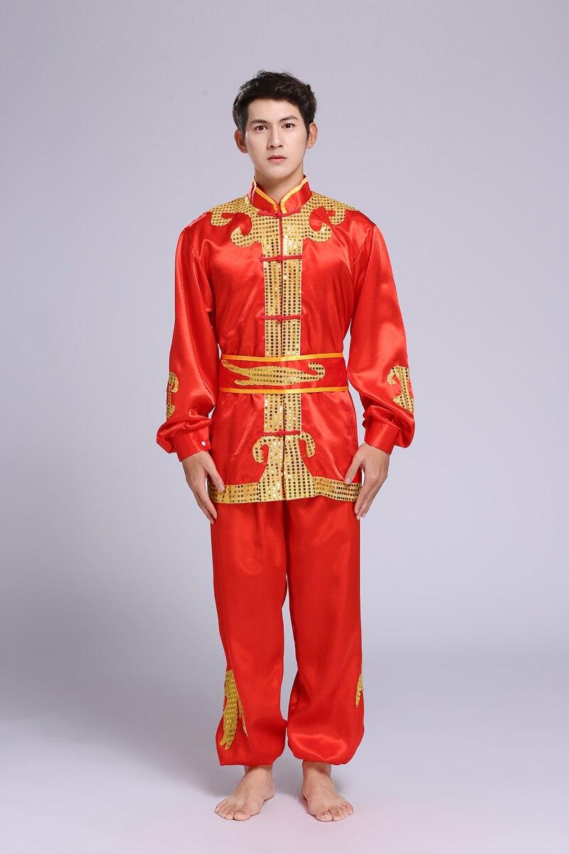 Dragon bateau danse Dragon danse Lion tambours tambour ascenseur vêtements danse vêtements hommes tambour costumes Yangko tambour
