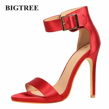 BIGTREE 2017 New Summer Shoes Woman High Heels Sandal Women Shoes High-heeled Wedding Party Shoes Sandals Shoes Heels