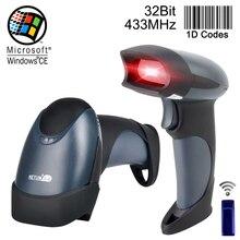 Бесплатная доставка Беспроводной сканера штриховых кодов Reader ручной 32Bit высокое отсканированы Скорость беспроводные POS Штрих-код сканирования для инвентаризации-NT-M2