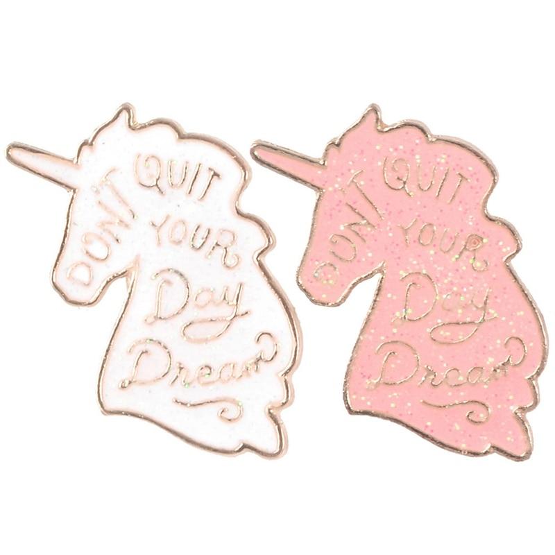 European And American Fashion Explosions Creative Unicorn Beautiful Versatile Jewelry Drip Brooch Backpack Shirt Lapel Badge