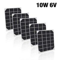 5 шт. Бытовая 10 Вт 6 в мини-солнечная панель ячейка мощность модульная батарея игрушки зарядное устройство световые инструменты