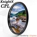 KnightX 49 ממ 52 ממ 55 ממ 58 ממ 67 ממ 77 ממ cpl מסנן עבור Canon עדשות מצלמה DSLR של ניקון D5300 D5500 d5100 אביזרי עדשת CPL d3300
