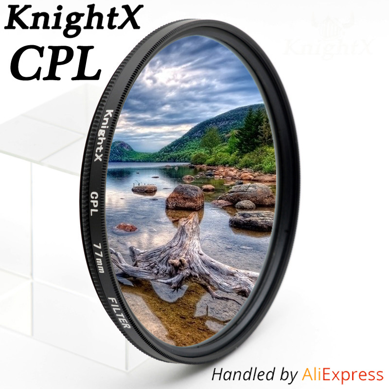 KnightX 49mm 52mm 55mm 58mm 67mm 77mm cpl Filtro per Canon Nikon D5300 D5500 accessori d5100 d3300 DSLR lenti della fotocamera CPL