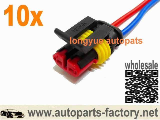 us $13 45 longyue 10pcs connector wiring harness accessories for coolant sensor washer fuel pump coil headlight pt1780 88988136 8\