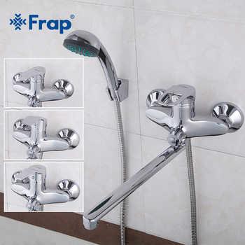 FRAP Bathtub Faucets shower faucets bathroom bath tub faucet bath water mixer shower brass waterfall faucet bath shower head set