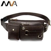 MVA genuine leather waist bag belt men fanny pack hip/banana/man belt pouch bag waist pack bum bags for men travel waist bags