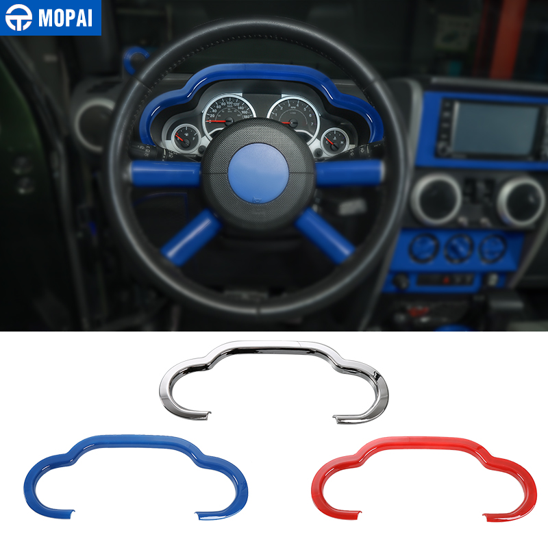 MOPAI Car Instrument Dashboard Panel Decoration Cover Trim Stickers for Jeep Wrangler JK 2007-2010 Interior Accessories Styling 4pcs set 4door car chrome abs door storage cover trim frame decoration fits for jeep wrangler jk 2007 2016 car styling covers