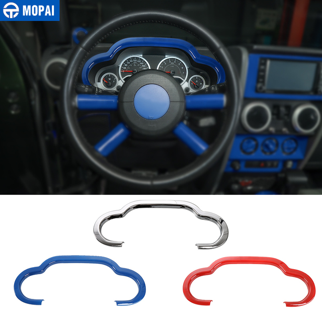 MOPAI Car Instrument Dashboard Panel Decoration Cover Trim Stickers for Jeep Wrangler JK 2007-2010 Interior Accessories Styling