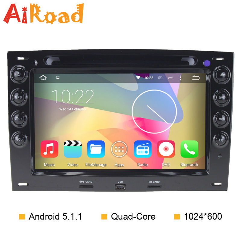 RK3188 Quad Core Car DVD GPS for Renault Megane 2 Android 5 1 1 Stereo Radio
