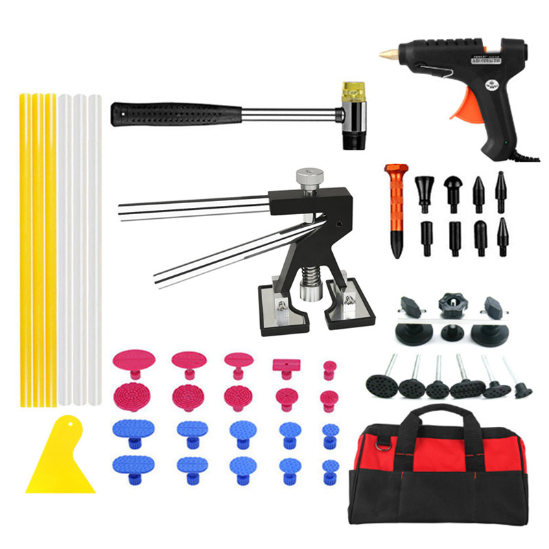 PDR Tools Paintless Dent Repair Tools Dent Removal Dent Puller Tool Kit Lifter Pulling Bridge Fungi Glue Tabs Hammer Tools pdr tools to remove dents car dent repair paintelss dent removal puller kit lifter removal glue tabs fungi sucker hand tool set