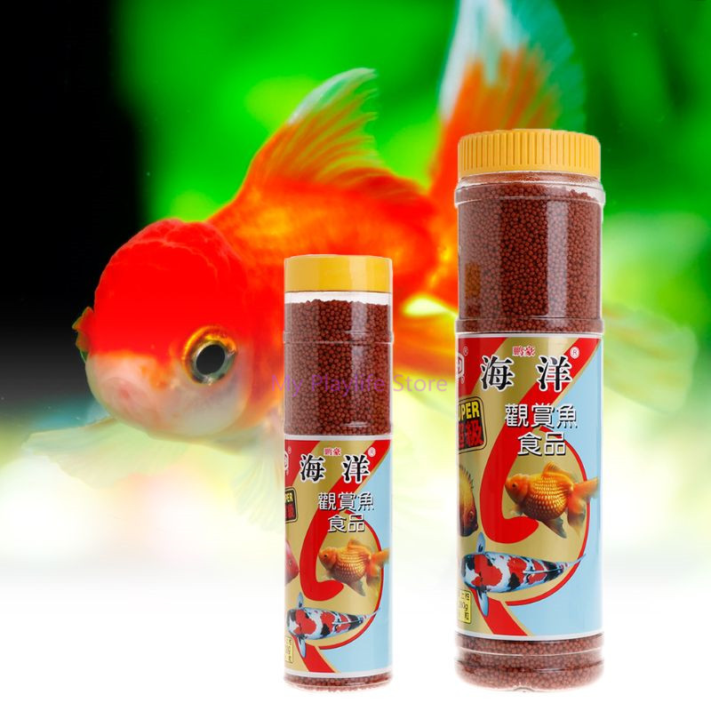 130g/280g Aquarium Fish Tank Tropical Fish Food High Protein Nutrition Health Goldfish Grain Natural Fish Feed Grain C42