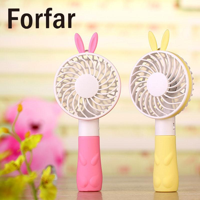 Outdoor USB 4Color Cute Mini Small Hand Held Desk Fan Rotatable Mute DC 5V Fans Outdoor Camping Tool