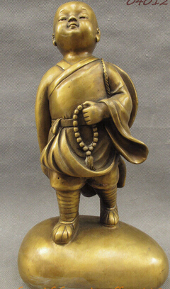 006876 12 Folk Chinese Bronze Buddhism Little Monk Palmer Buddha Statue Sculpture006876 12 Folk Chinese Bronze Buddhism Little Monk Palmer Buddha Statue Sculpture