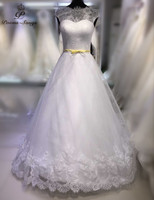 Poemssongs Custom Made High Quality Soft Organza Wedding Dresses For Wedding Mariage Dress Robe De Mariee