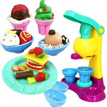 Горячие Безопасности 3D Пластилин Playdough Мороженое Наборы С Формы 5 Цвет Теста Дети Притворись Play Обучение & Образование Игрушки
