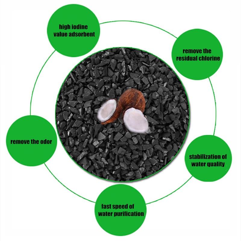 1 kg Kokosnuss Aktivkohle Block Filter Media Adsorption Geruch Entfernung Verunreinigungen Für RO Wasser Aquarium System