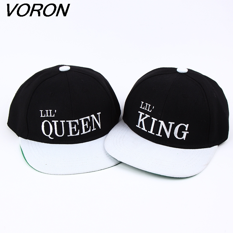 VORON 2017 New kid king queen Letter Baseball Cap Children Boys And Girls Bones Snapback Hip Hop Fashion Flat cap hats hot exo boys and girls stars cotton children baseball cap flat brimmed hat visor cap fashion travel hip hop cap snapback caps
