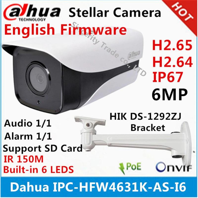 Dahua IPC HFW4631K AS I6 6Mp IP Camera built in SD Card slot Audio Alarm interface