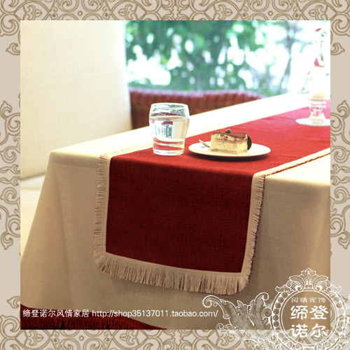 Fashion linen table cloth tablecloth take the towel table runner derlook 14 twinset cloth customize