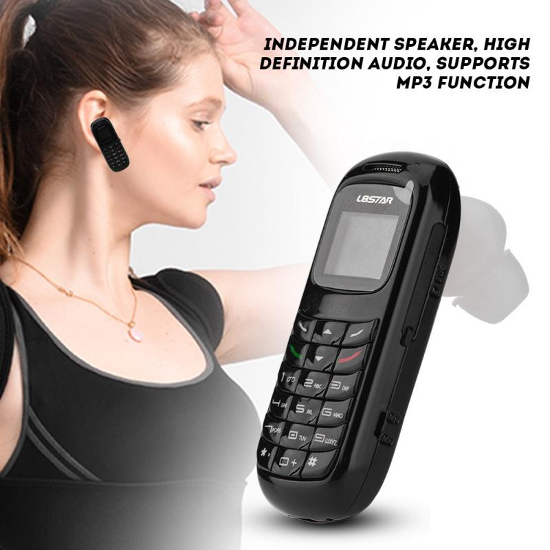 Mini Mobile Phone Bluetooth Dialer Headset Cellphone Earphone Ear Hook (Black)