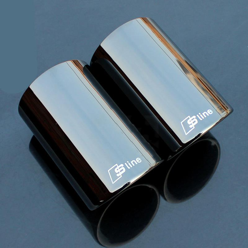 high quality original rline tail throat car exhaust pipe muffler tip for audi a1 a3 a4l a5 a6l. Black Bedroom Furniture Sets. Home Design Ideas