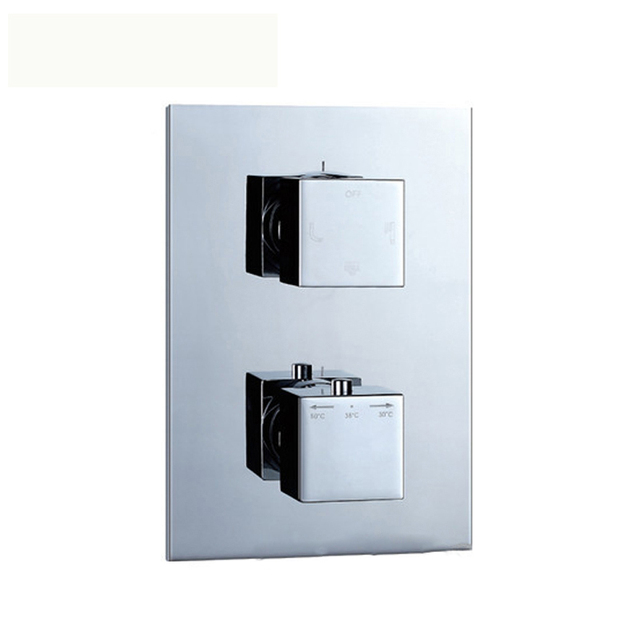 dual function concealed thermostat shower faucet brass chrome shower mixer control shower outlet bathroom accessories