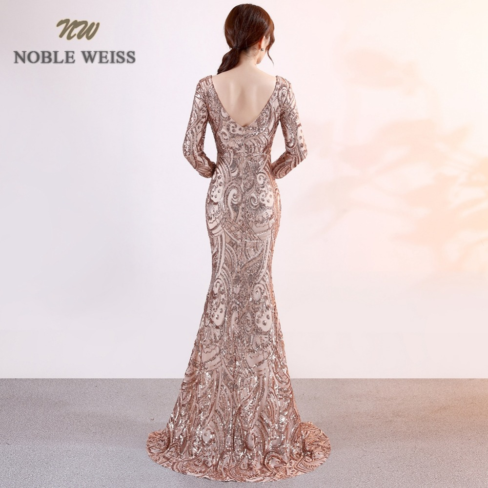 f955be422de84 prom dresses 2019 sexy long mermaid prom dress vestidos de fiesta largos  v-neck backless side slit sequin evening gowns