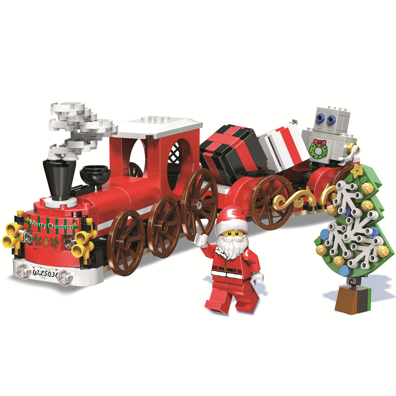2019 Fashion 345pcs Creative Christmas Winter Holiday Christmas Train Model Building Block Bricks Toys For Children Compatible With Lego Price Remains Stable