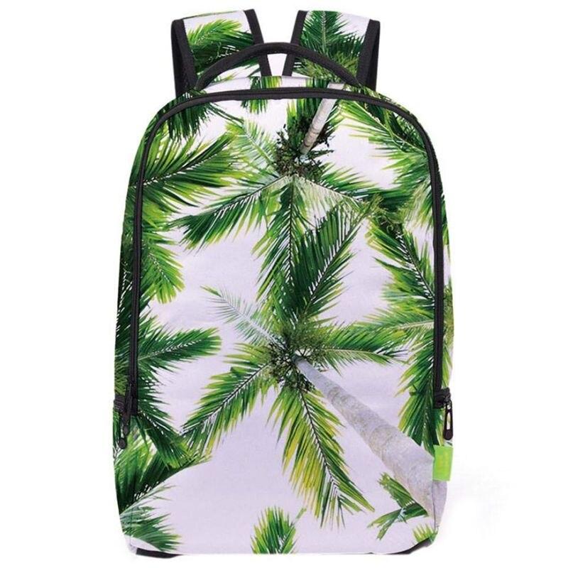 3D Saddle Bag Backpack Unisex Backpack Student Backpack Student Backpack (Coconut), Green