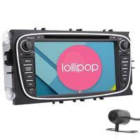 Android 5.1 Araba DVD Oynatıcı Çift Din Için Ana Ünite GPS Car Stereo Navigasyon Bluetooth AutoRadio Ses FORD/Focus/MondeoWiFi