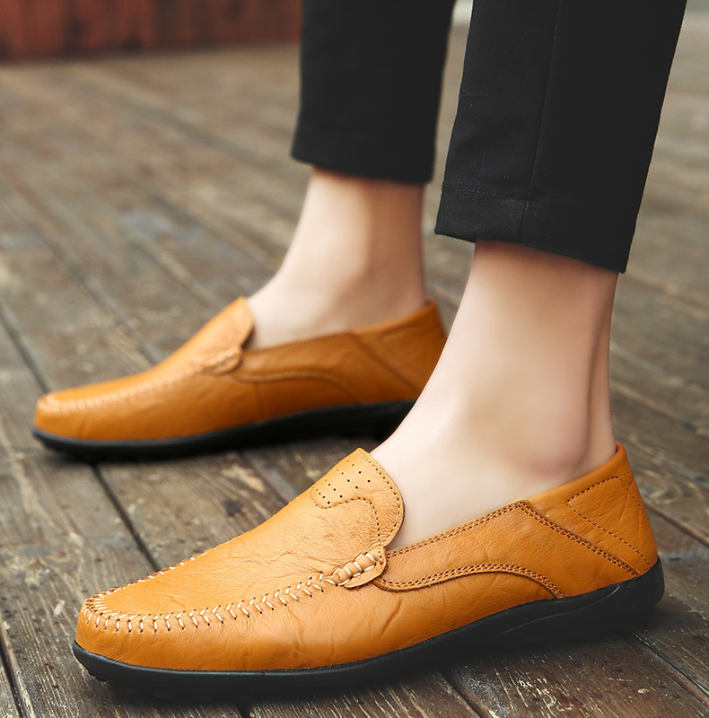 HTB1APJZLmzqK1RjSZPcq6zTepXae Summer Men Shoes Casual Luxury Brand Genuine Leather Mens Loafers Moccasins Italian Breathable Slip on Boat Shoes JKPUDUN