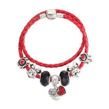 Cute Mouse Charms Beads Fit Bracelet Making Glass Crystal Big Hole Beads Fashion Bracelets & Bangles