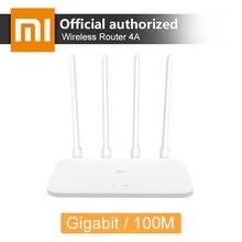 Original Xiao mi mi Router 4A 2.4 GHz GHz Wi fi 16 5 64 MB MB ROM/128 MB DDR3 antenas de alto Ganho 4 APP Controle Remoto Wi fi Repetidor