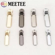 5Pcs 5# Spring Lock Zipper Sliders for Metal Zippers Detachable Puller Head Zip Repair Kit DIY Garment Accessories
