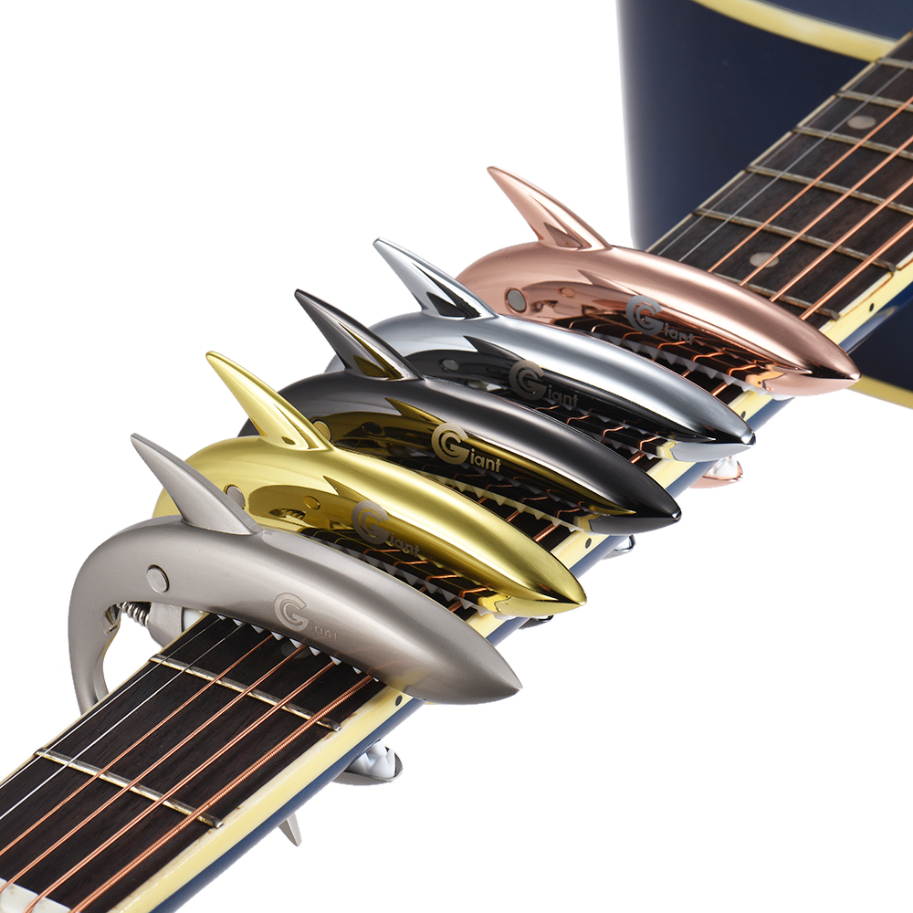 Clip on Shark Guitar Capo Clamp Zinc Alloy Silicon Pad for ...