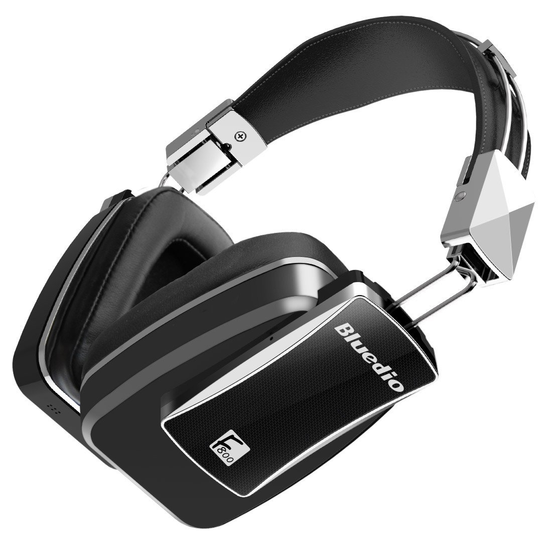 Bluedio F800 Active Noise Cancelling Foldable Over-ear Wireless Bluetooth Headphones with Mic(Black)