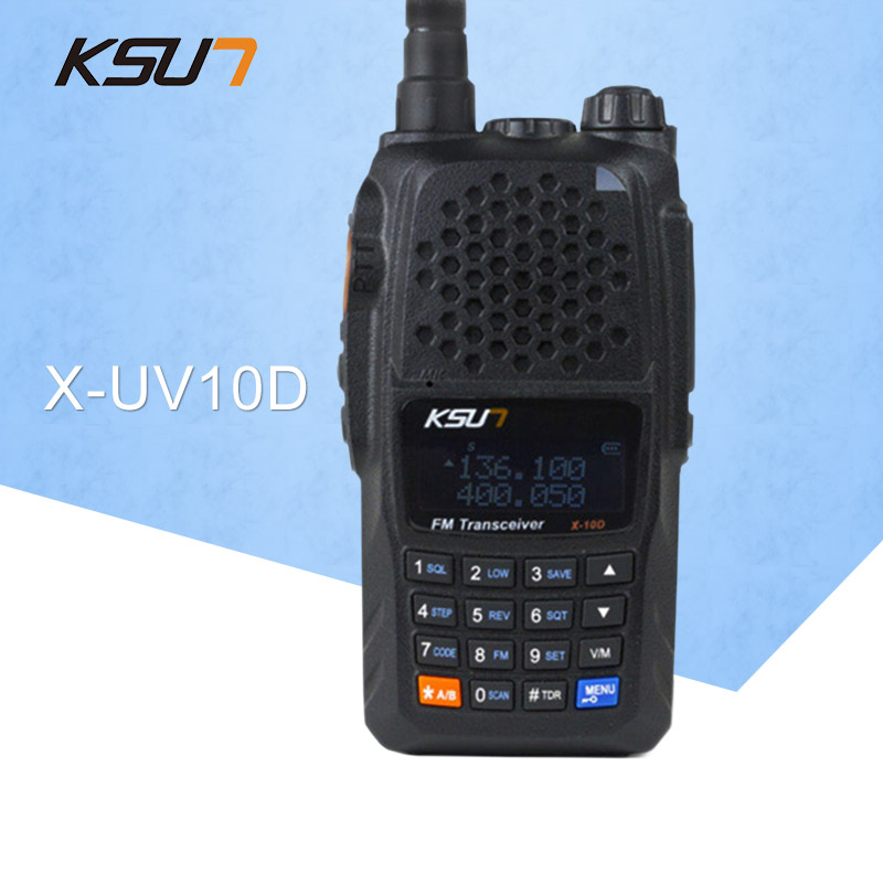 KSUN X-UV10D talkie-walkie portable VHF UHF deux voies Radio émetteur-récepteur double bande Palmare talkie-walkie communicateur bidirectionnel
