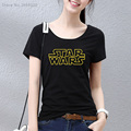 2017 STAR WARS Women t shirt casual letter printed top quality short sleeve cotton Woman t-shirts Girls tees shirts
