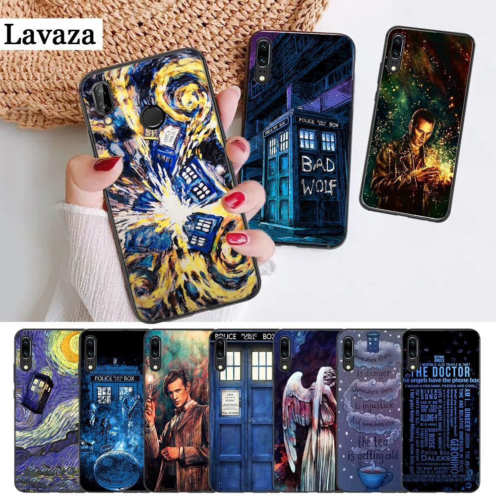 Humorous Lavaza Tardis Box Doctor Who On Sale Silicone Case For Huawei P8 Lite 2015 2017 P9 2016 Mimi P10 P20 Pro P Smart 2019 Relieving Rheumatism And Cold Half-wrapped Case