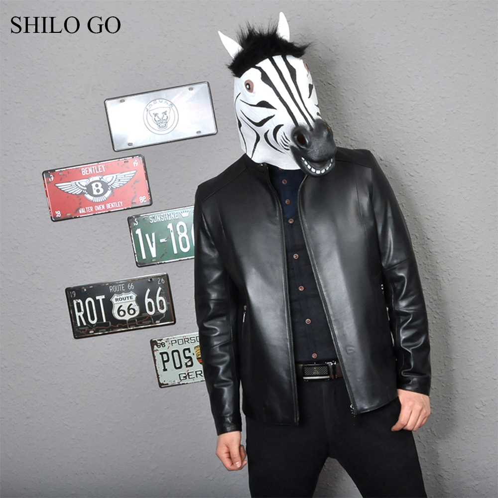 Jackets & Coats Shilo Go Leather Jacket Mens Spring Fashion Sheepskin Genuine Leather Coat Office Stand Collar Smart Casual Zipper Black Jacket Back To Search Resultsmen's Clothing